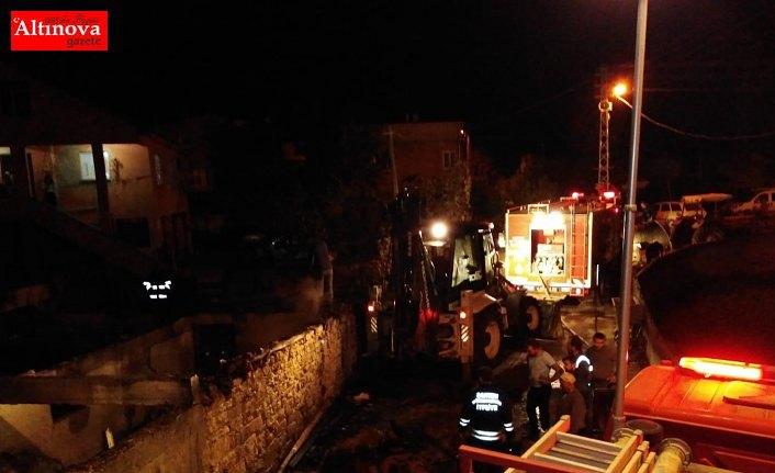Alaçam'da yangın güçlükle kontrol altına alındı