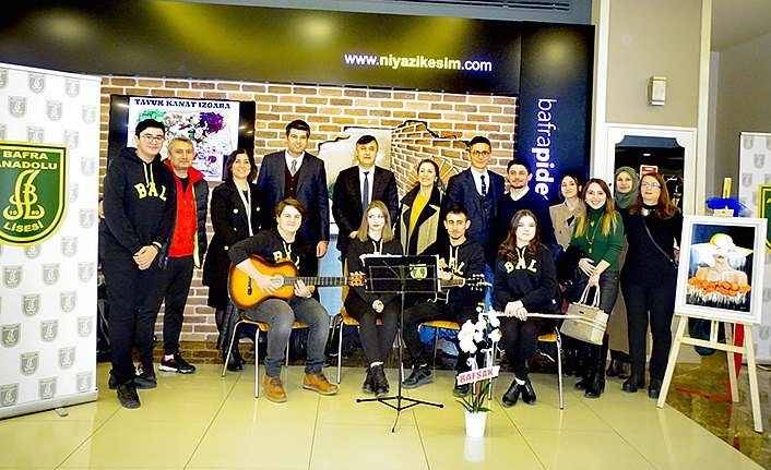Bafra Anadolu Lisesi öğrencilerinden resim sergisi