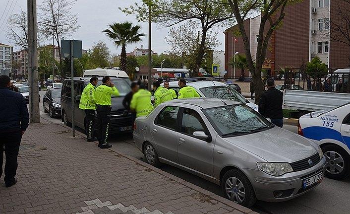 Ehliyetsiz sürücü polis ekiplerince yakalandı