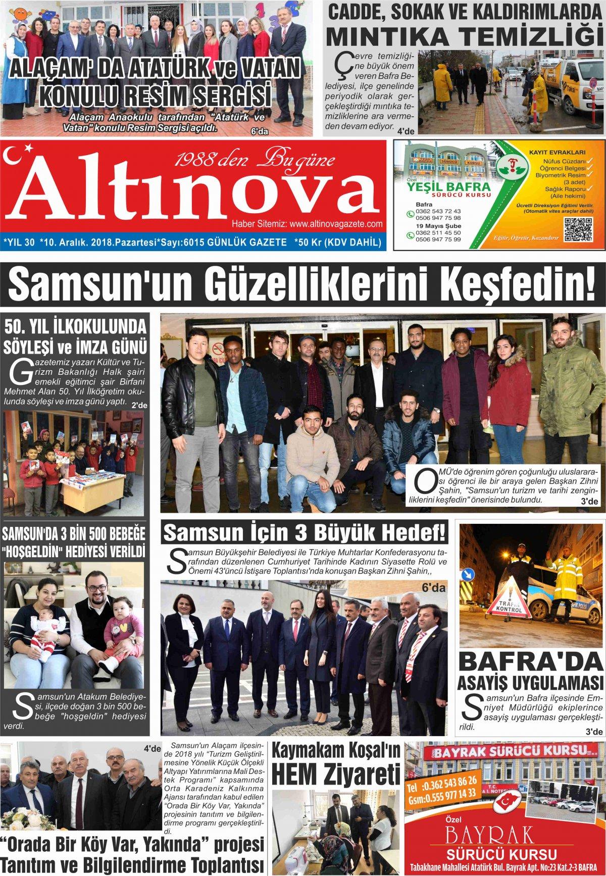 Bafra Haberleri | Bafra Haber – Bafra Son Dakika Haber - 10.12.2018 Manşeti