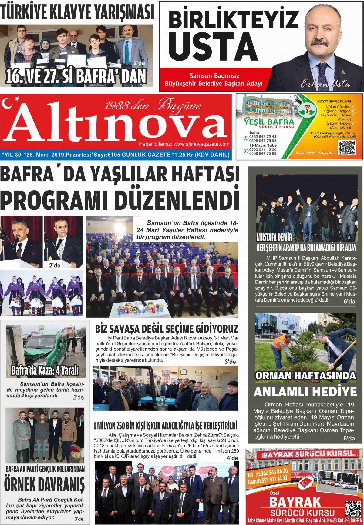 Samsun Bafra Haberleri | Samsun Haberleri - Haber, Haberler - 25.03.2019 Manşeti