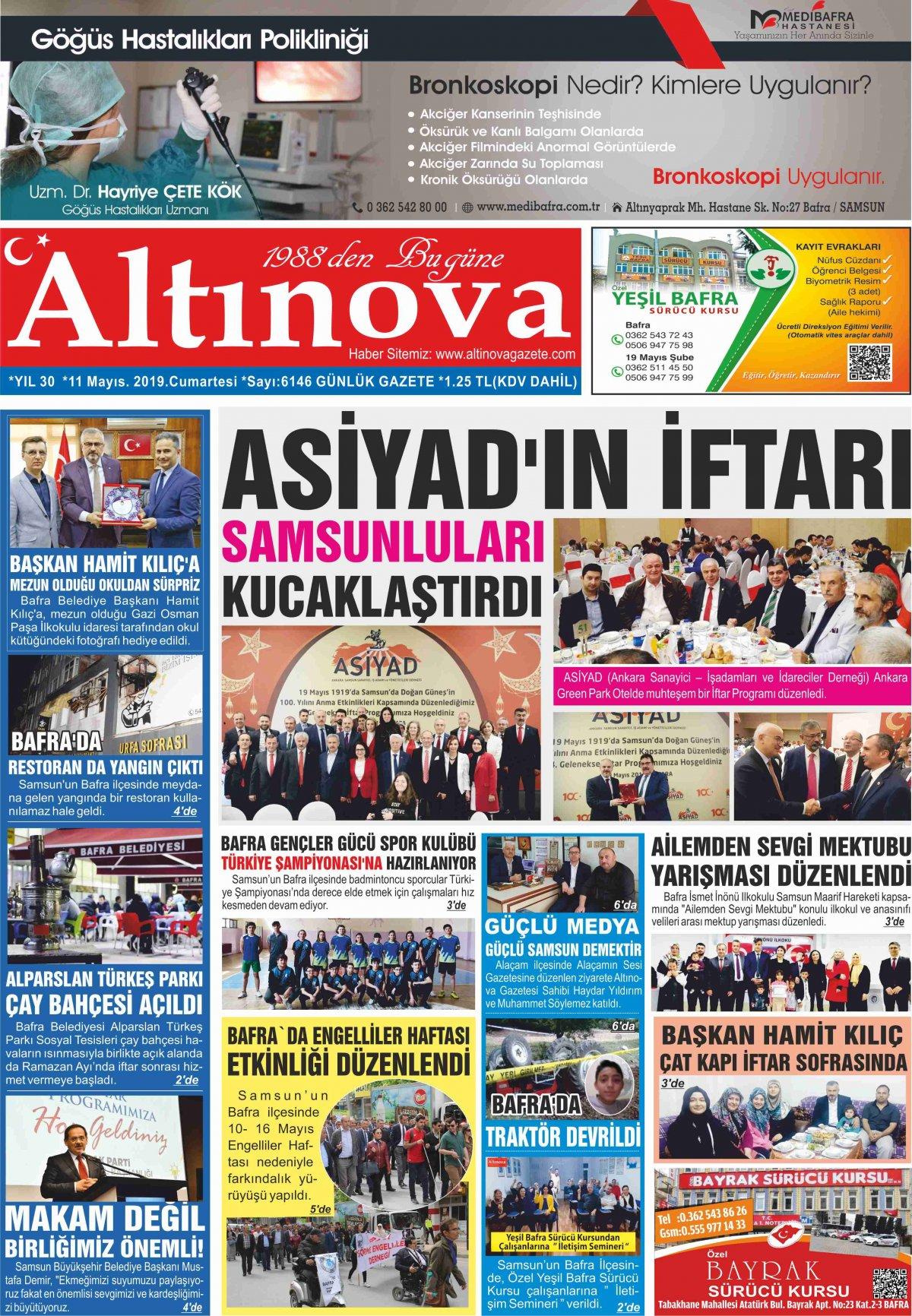 Samsun Bafra Haberleri | Samsun Haberleri - Haber, Haberler - 11.05.2019 Manşeti
