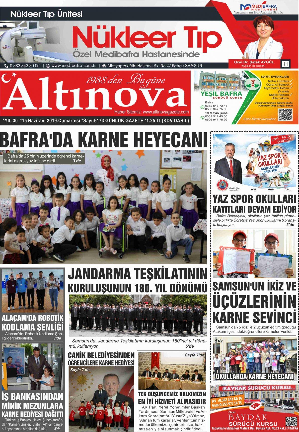 Samsun Bafra Haberleri | Samsun Haberleri - Haber, Haberler - 15.06.2019 Manşeti