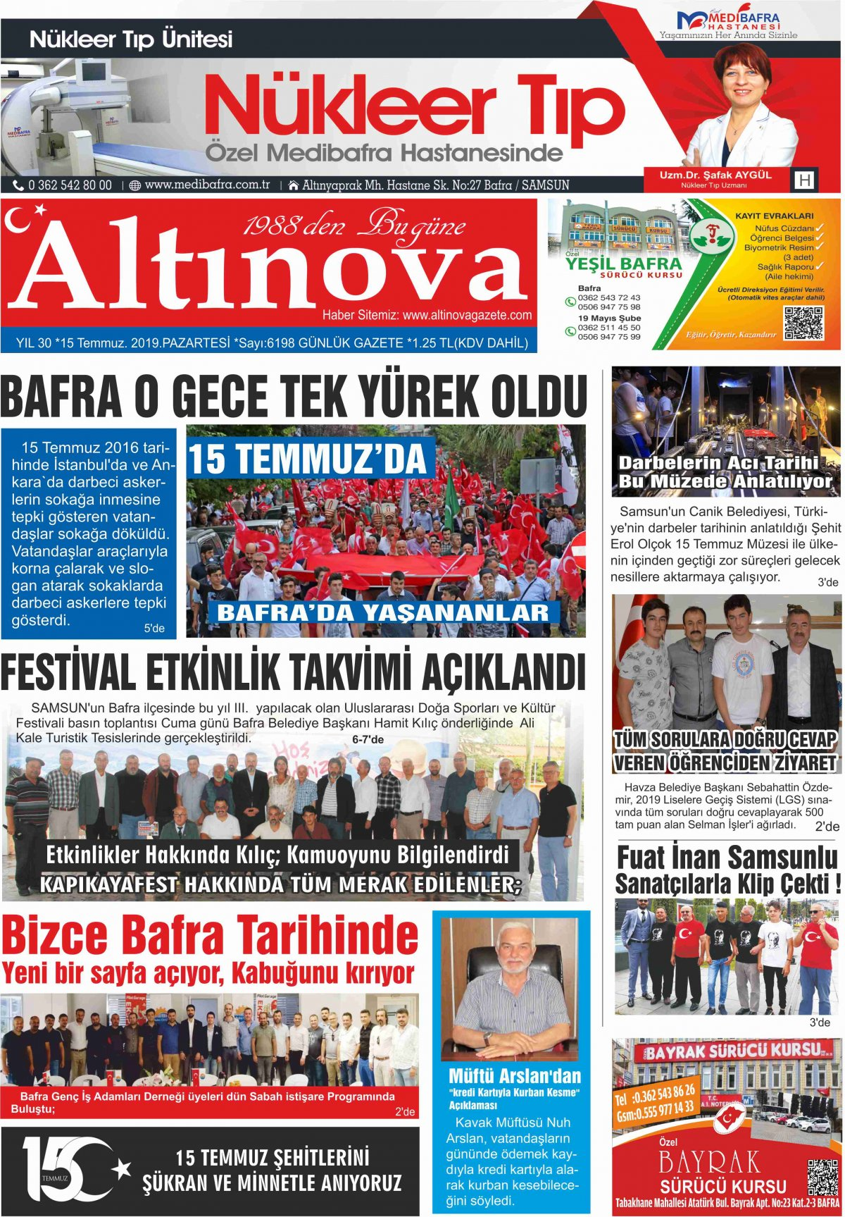 Samsun Bafra Haberleri | Samsun Haberleri - Haber, Haberler - 15.07.2019 Manşeti