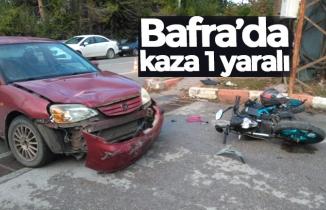 Bafra'da kaza: 1 yaralı