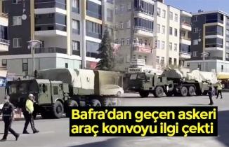 Bafra'dan geçen askeri araç konvoyu ilgi çekti