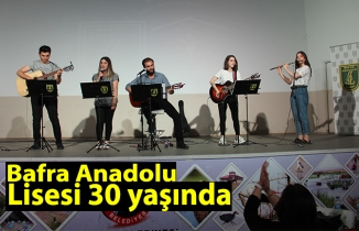 Bafra Anadolu lisesi 30 yaşında