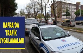 Bafra`da trafik uygulamaları