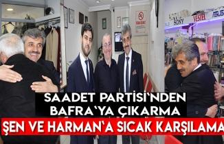 Saadet Partisi`nden Bafra`ya çıkarma