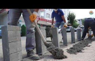 Atakum belediyesi yaya kaldırımı Yapımı