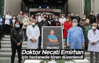 Doktor Necati Emirhan için hastanede tören düzenlendi